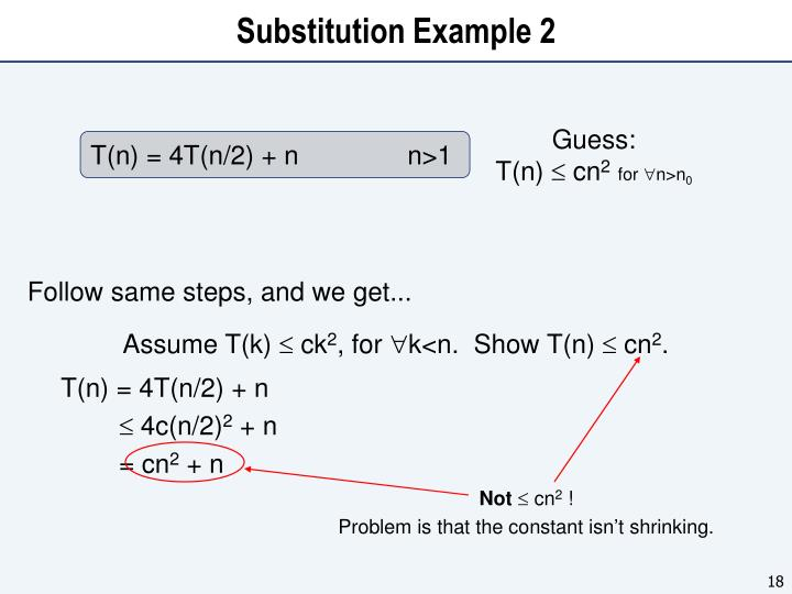 Substitution Example 2