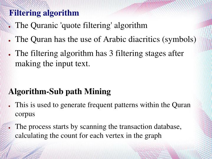 Filtering algorithm