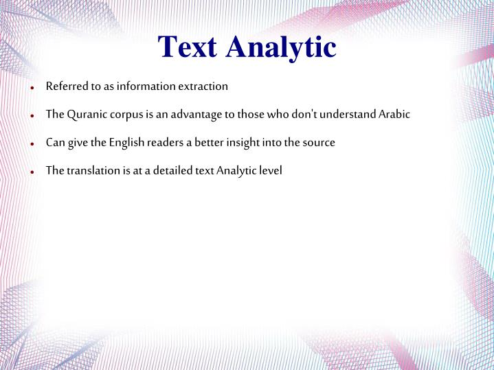 Text Analytic
