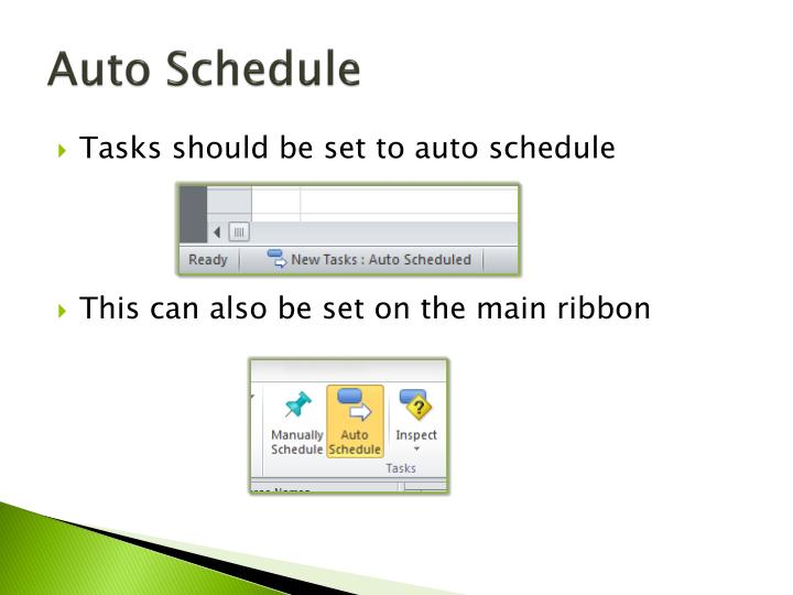 Auto Schedule