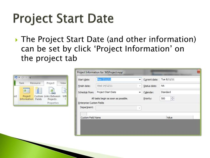 Project Start Date
