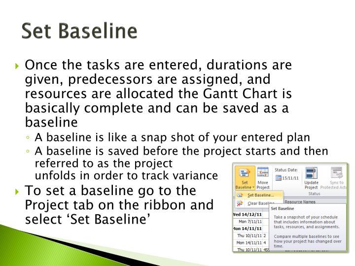 Set Baseline