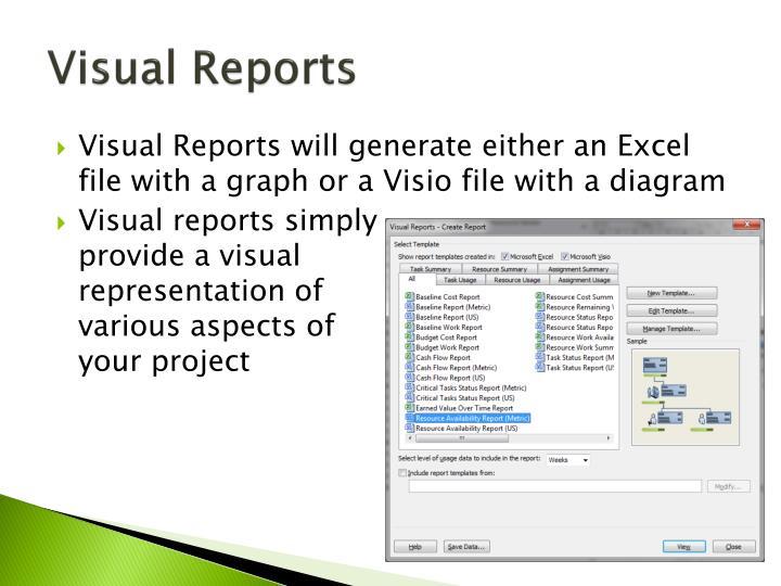 Visual Reports