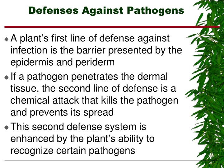 Defenses Against Pathogens