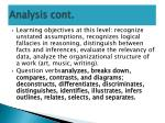analysis cont