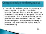 comprehension understanding