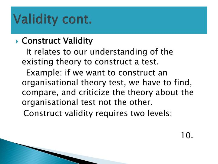 Validity cont.