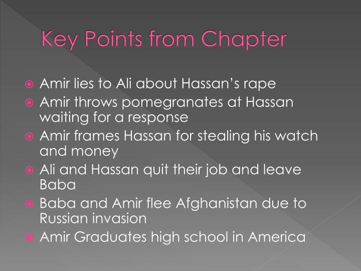 Key Points from Chapter