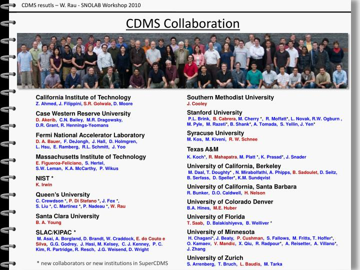 CDMS resutls – W. Rau - SNOLAB Workshop