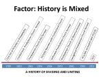 factor history is mixed