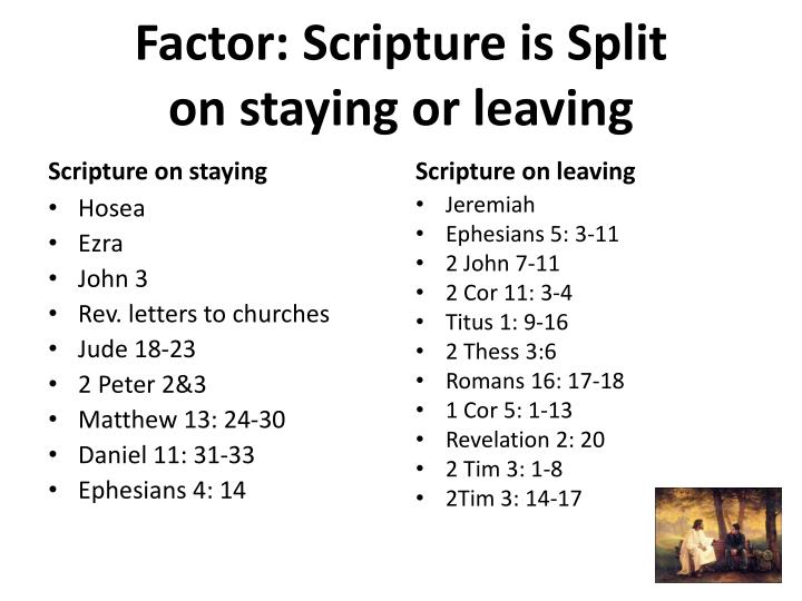 Factor: Scripture is Split