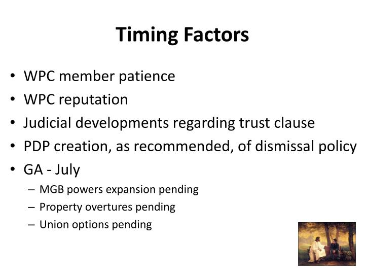Timing Factors