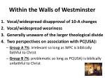 within the walls of westminster