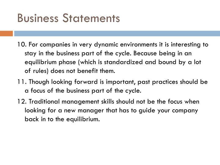 Business Statements