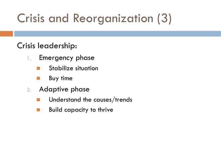 Crisis and