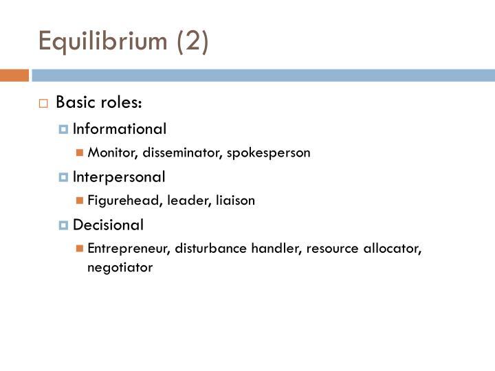Equilibrium (2)