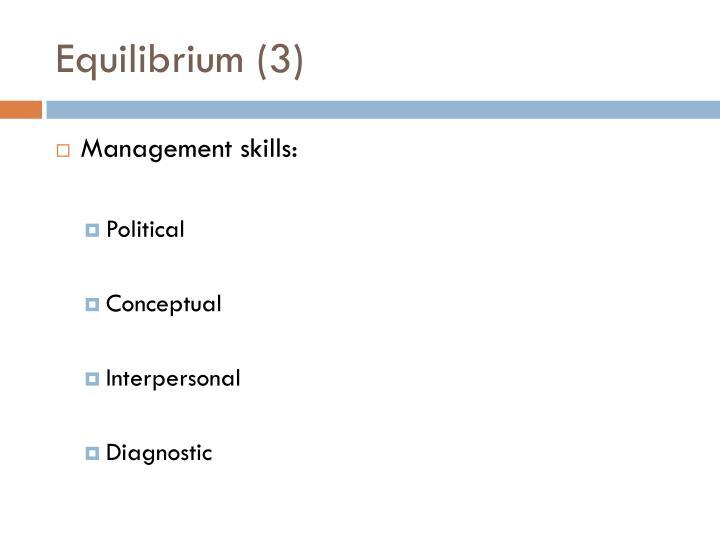 Equilibrium (3)