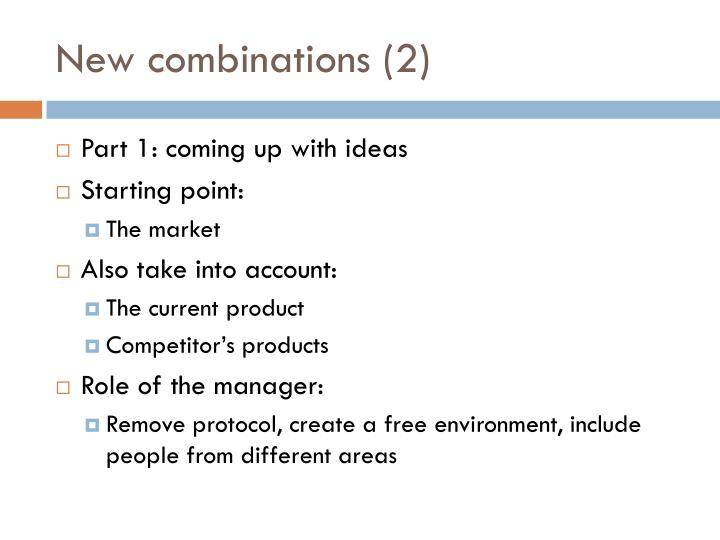 New combinations (2)