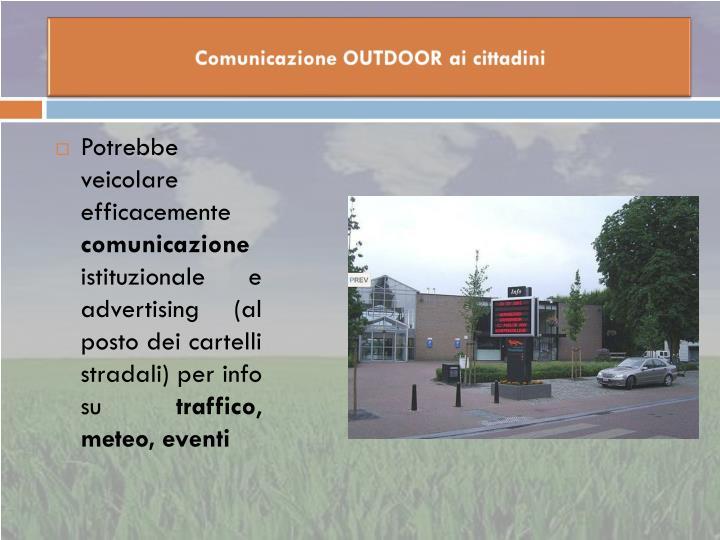 Comunicazione OUTDOOR ai cittadini
