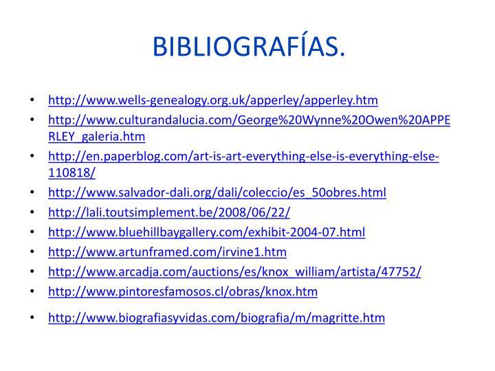 BIBLIOGRAFÍAS.