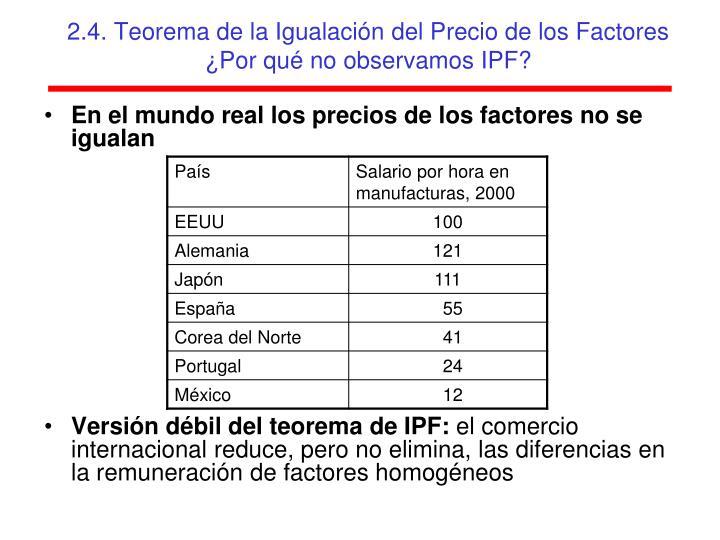 2.4. Teorema de la Igualación del Precio de los Factores