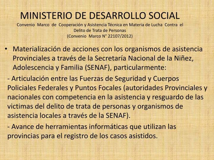 MINISTERIO DE