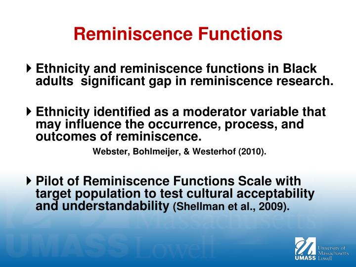 Reminiscence Functions