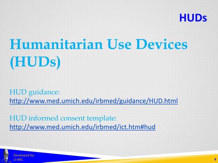 Humanitarian Use