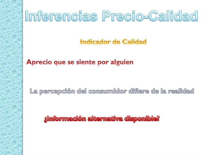 Inferencias Precio-Calidad