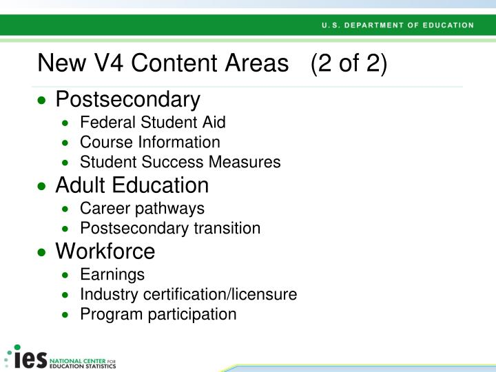 New V4 Content Areas   (2 of 2)