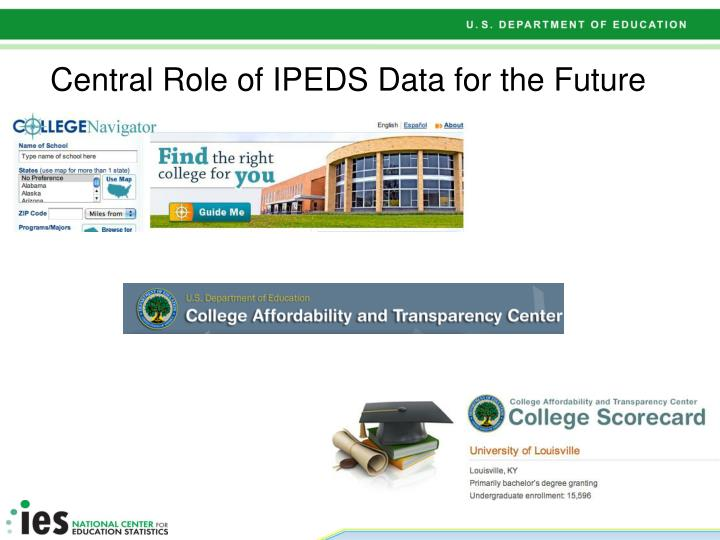 Central Role of IPEDS Data for the Future