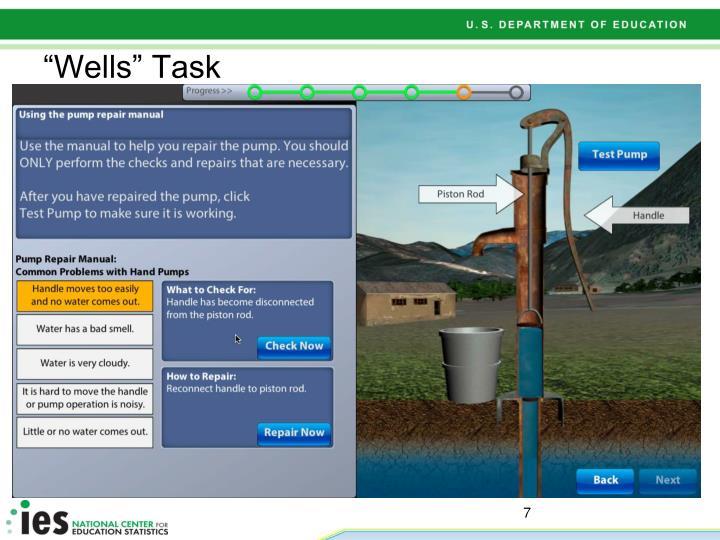 """""""Wells"""" Task"""