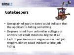 gatekeepers