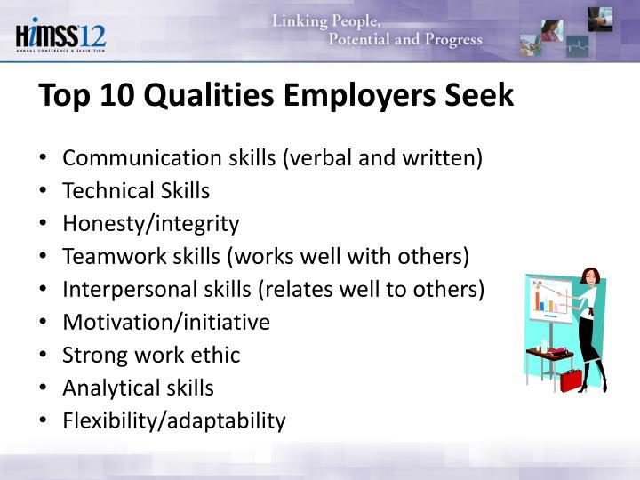 Top 10 Qualities Employers Seek