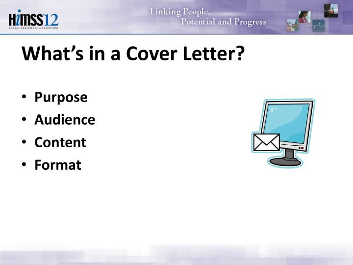 What's in a Cover Letter?