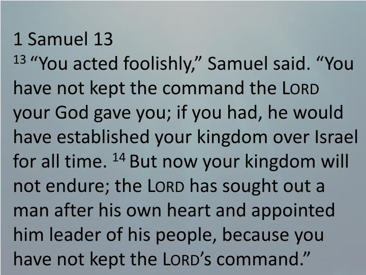 1 Samuel 13