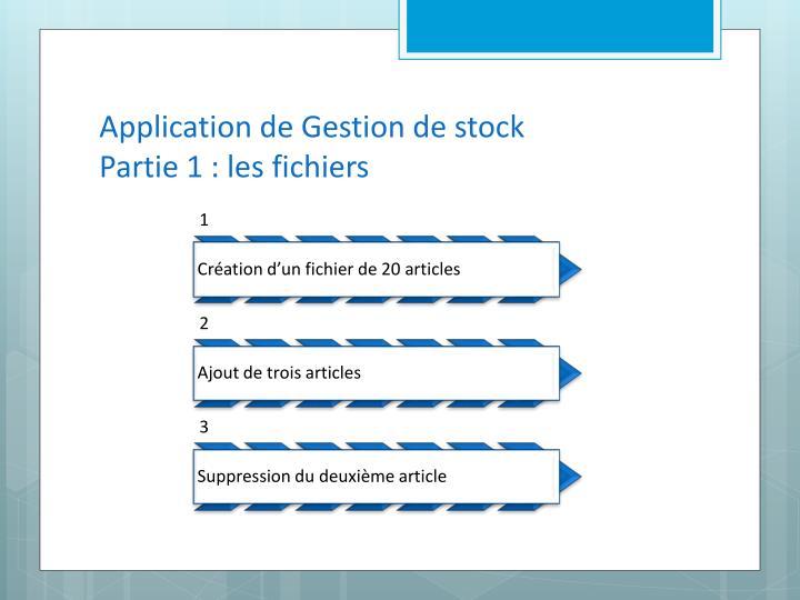 Application de Gestion de stock