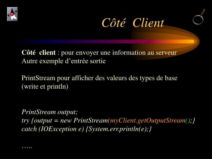 Côté  Client