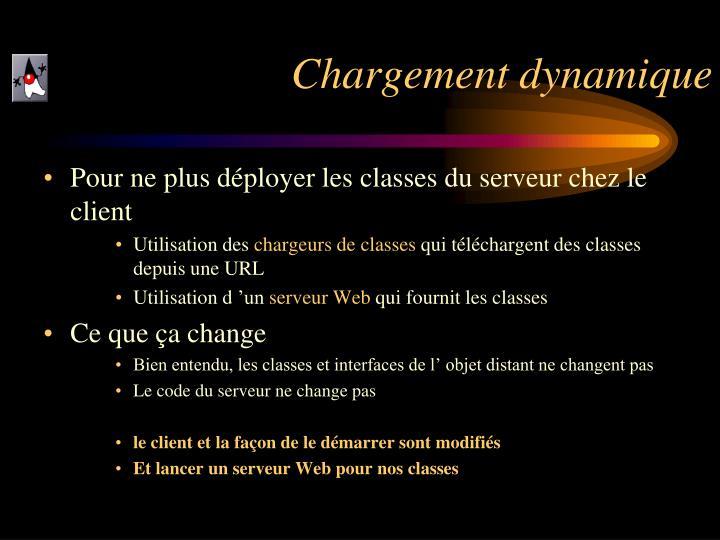 Chargement dynamique