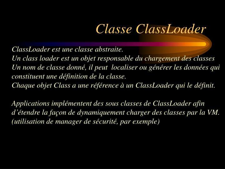 Classe ClassLoader