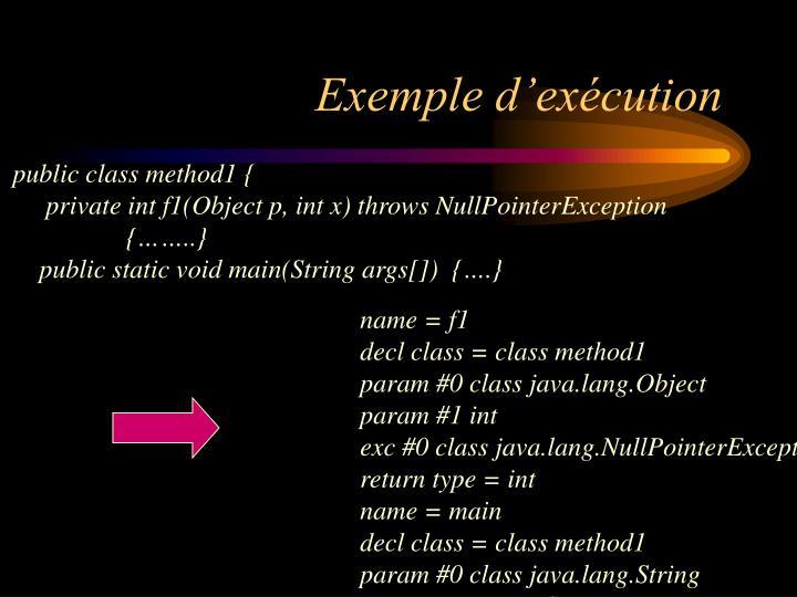 Exemple d'exécution