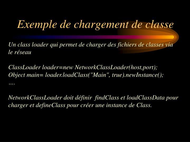Exemple de chargement de classe