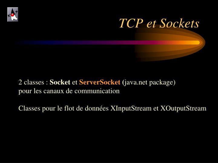 TCP et Sockets