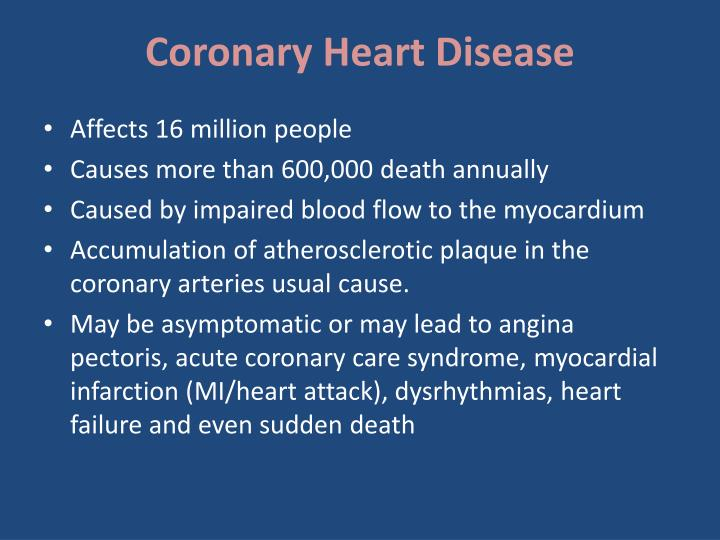 Coronary heart disease1