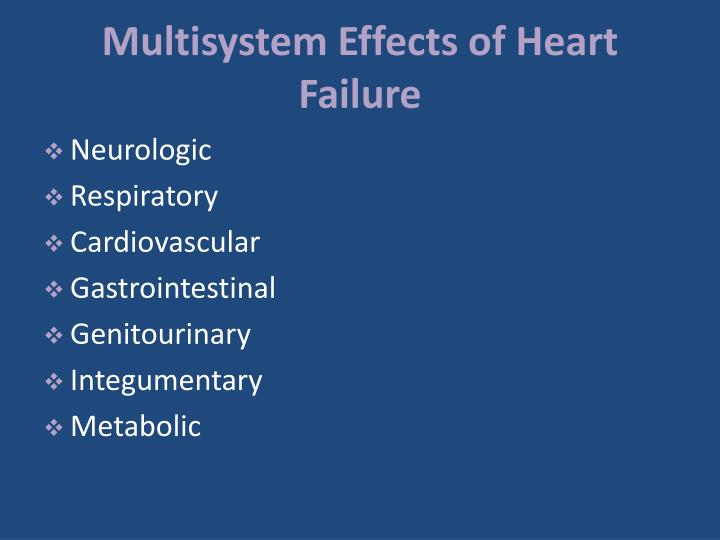 Multisystem Effects of Heart Failure