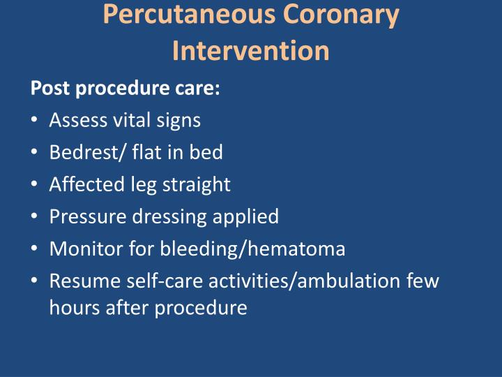 Percutaneous Coronary  Intervention