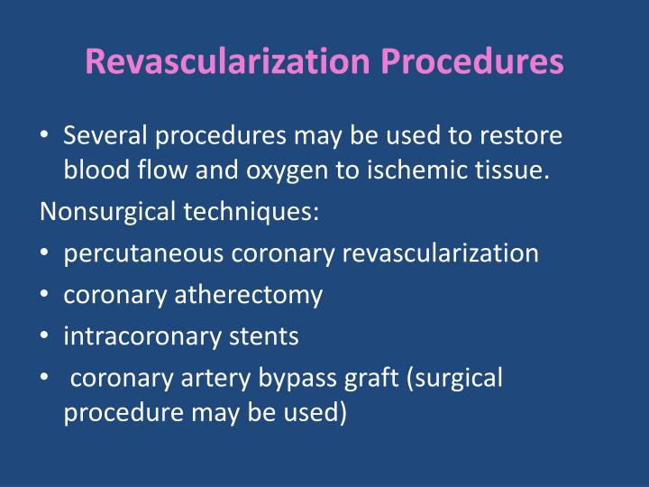 Revascularization Procedures