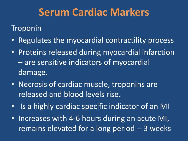 Serum Cardiac Markers