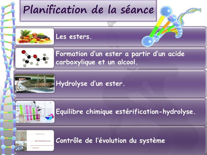 Planification de la s ance