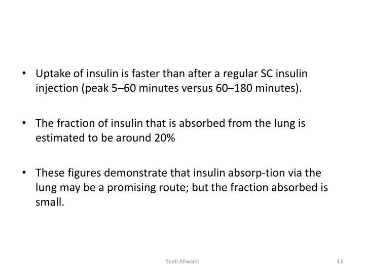 Uptake of insulin